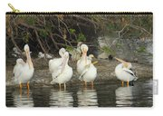White Pelicans Grooming Carry-all Pouch
