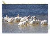 White Pelicans On Sanibel Island Carry-all Pouch