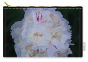 White Peony And Companion Abstract Flower Painting Carry-all Pouch