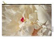 White Peony Flower Carry-all Pouch