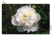 White Peony Watercolor Effect Carry-all Pouch
