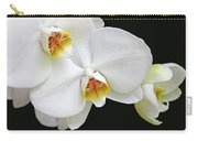 White Phalaenopsis Orchid Flowers Carry-all Pouch