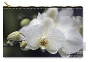 White Phalaenopsis With Water Drops 5797 Carry-all Pouch