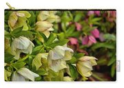 White/pink Lenten Roses Carry-all Pouch