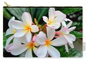 White Plumeria - 1 Carry-all Pouch