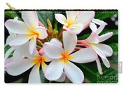 White Plumeria - 2 Carry-all Pouch
