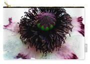 White Poppy Macro Carry-all Pouch
