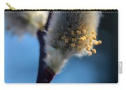 White Pussy Willow In Bloom Carry-all Pouch