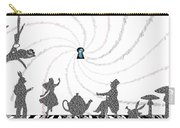 White Rabbit Lyrics Typography Poster Carry-all Pouch