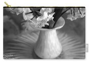 White Rays And Flowers Carry-all Pouch