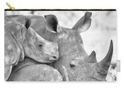 White Rhino With Calf Carry-all Pouch