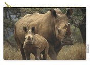 White Rhinoceros And Baby Lewa Kenya Carry-all Pouch