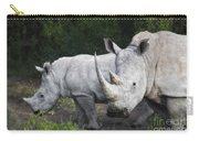 White Rhinos Carry-all Pouch