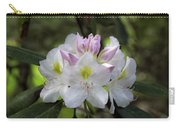 White Rhododendren Carry-all Pouch