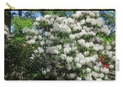 White Rhododendron Blooming In The Garden Carry-all Pouch