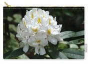 White Rhododendron Carry-all Pouch