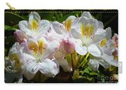 White Rhododendron In Sunlight Carry-all Pouch