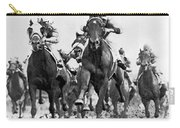 White River With Jockey Tommy Barrow Carry-all Pouch