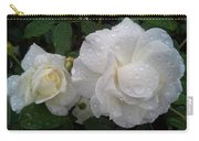 White Rose And Raindrops Carry-all Pouch