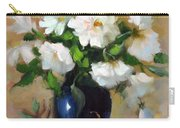 White Rose Elegance Carry-all Pouch