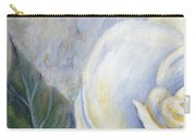 White Rose One Panel One Of Four Carry-all Pouch
