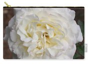 White Rose Square Carry-all Pouch