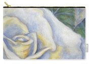 White Rose Two Panel Two Of Four Carry-all Pouch