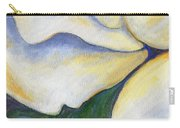 White Rose Two Panel Three Of Four Carry-all Pouch