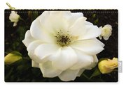 White Rose With Buds Carry-all Pouch