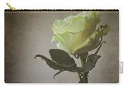 White Rose With Old Paper Texture Carry-all Pouch