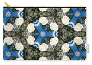 White Roses And Babys Breath Kaleidoscope Carry-all Pouch