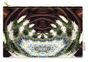 White Roses And Babys Breath Polar Coordinates Effect Carry-all Pouch