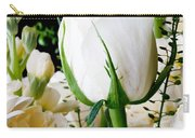 White Roses Close Up Carry-all Pouch