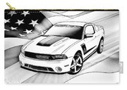 White Roush Mustang Carry-all Pouch