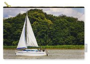 White Sailboat Carry-all Pouch