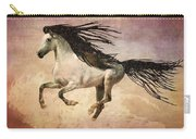 White Stallion Running Free  Carry-all Pouch