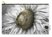 White Sunflower Carry-all Pouch