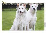White Swiss Shepherd Dogs Carry-all Pouch
