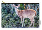 White Tail Deer Bambi In The Wild Carry-all Pouch