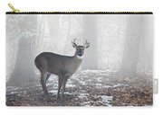 White Tailed Deer Buck In The Mist Carry-all Pouch