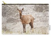 White Tailed Deer In Snow Carry-all Pouch