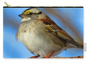 White Throated Sparrow And Blue Sky Carry-all Pouch