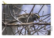 White-throated Sparrow With Berry Carry-all Pouch