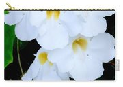 White Thunbergia On The Fence Carry-all Pouch