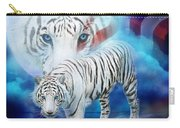 White Tiger Moon - Patriotic Carry-all Pouch by Carol Cavalaris