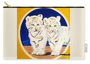 White Tiger Twins Carry-all Pouch