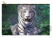 White Tigers Carry-all Pouch