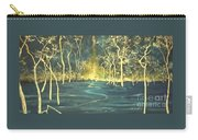 White Trees In The Blue Woods Carry-all Pouch by Stefan Duncan