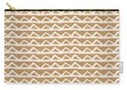 White Triangles On Burlap Carry-all Pouch