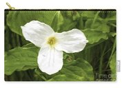 White Trillium Flower Carry-all Pouch